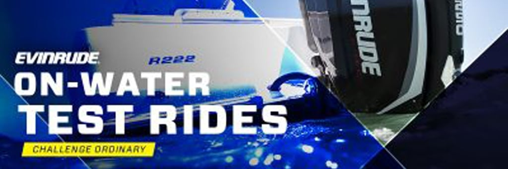 Evinrude on water test rides