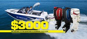 Save up to $3000 on select Quintrex Evinrude Packages